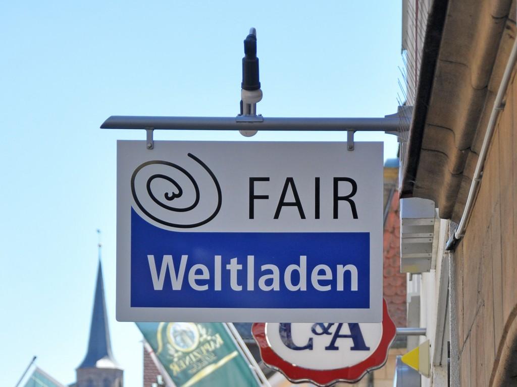 Ausleger FAIR Weltladen Kulmbach