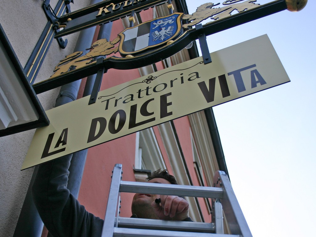 Ausleger La Dolce Vita