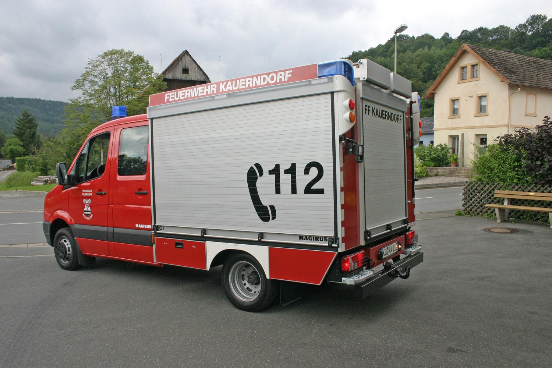 Beklebung Feuerwehrauto