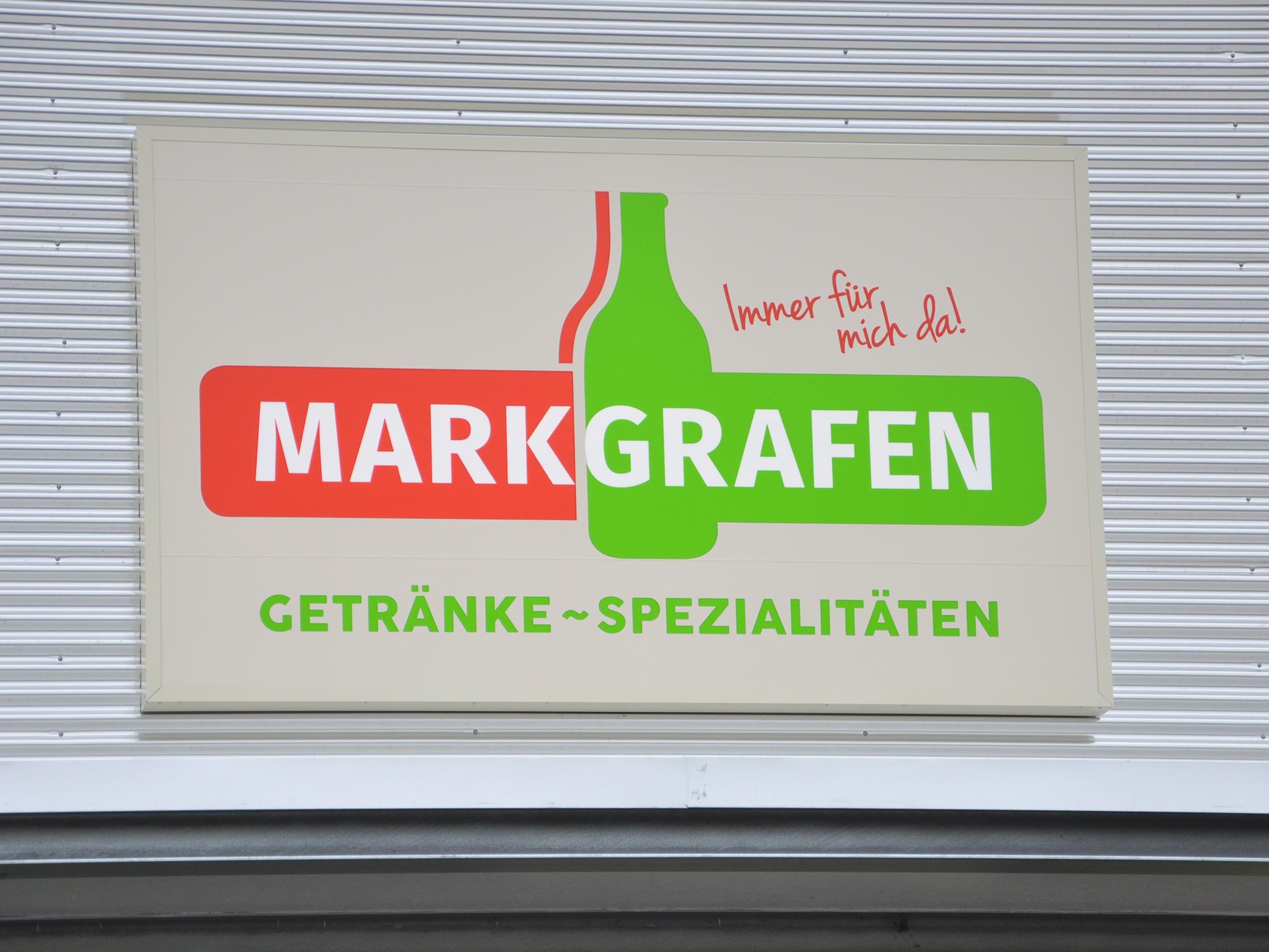 Leuchtkasten für eine neue Filiale Markgrafen Getränke