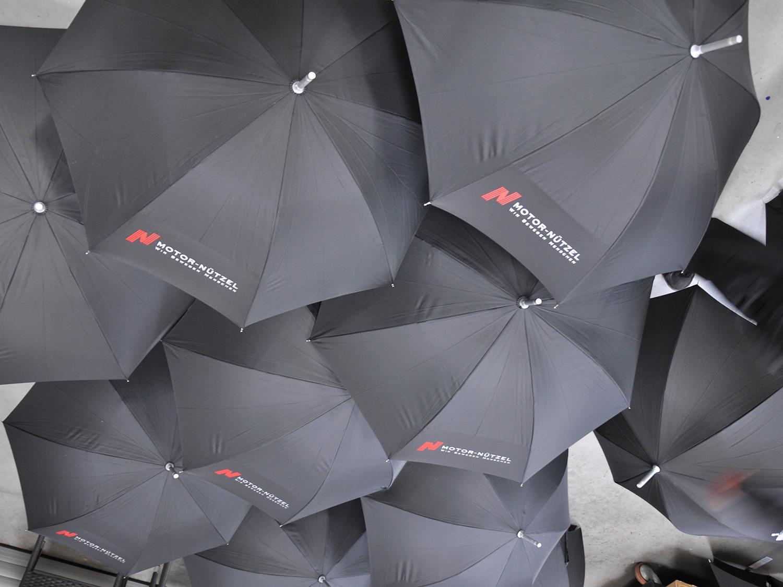 Regenschirme mit Transferdruck