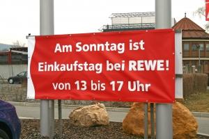 PVC Banner Rewe