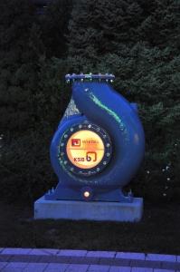 Illuminiertes Pumpengehäuse