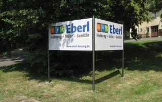 Werbeanlage aus Aluverbund