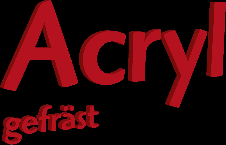 Acryl Buchstaben gefräst