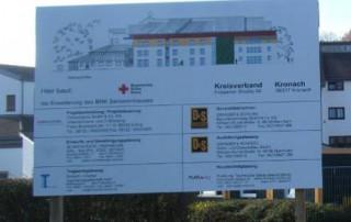 Bautafel BRK Kronach